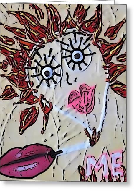 Discrimination Greeting Cards - Eye Smoke Discrimination  Greeting Card by Lisa Piper Menkin Stegeman
