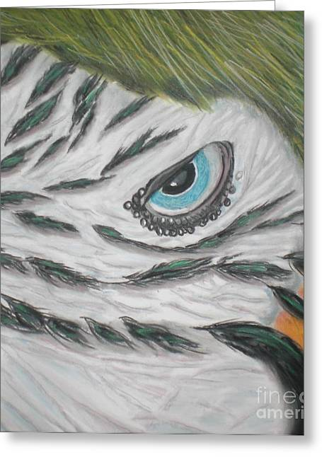 Photorealism Pastels Greeting Cards - Eye Spy Greeting Card by Pastel Art By Taylor