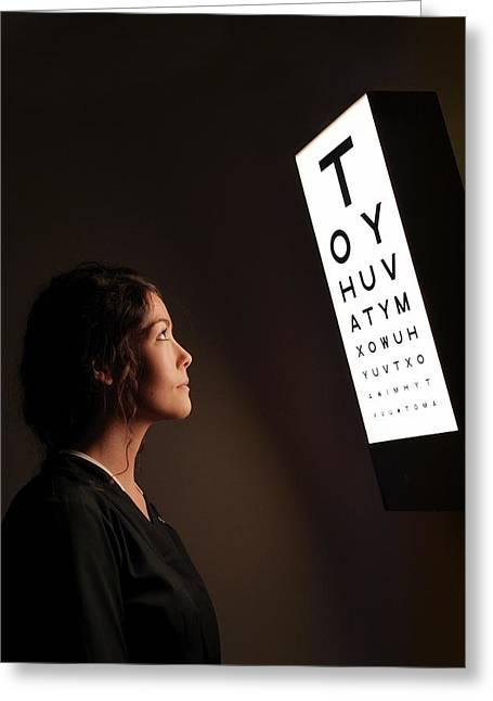 Eye Test Chart Greeting Card by Mcs