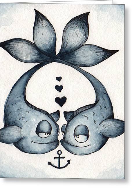 Anchor Underwater Greeting Cards - Eye to Eye Greeting Card by Darnel Tasker