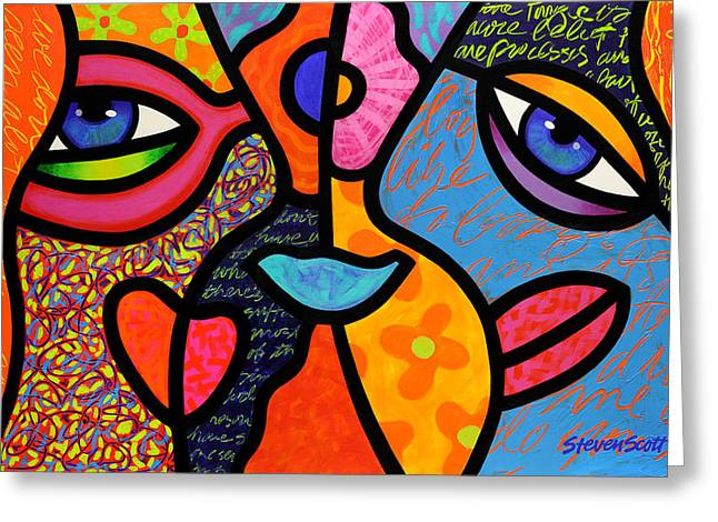 Conversations Greeting Cards - Eye to Eye Greeting Card by Steven Scott