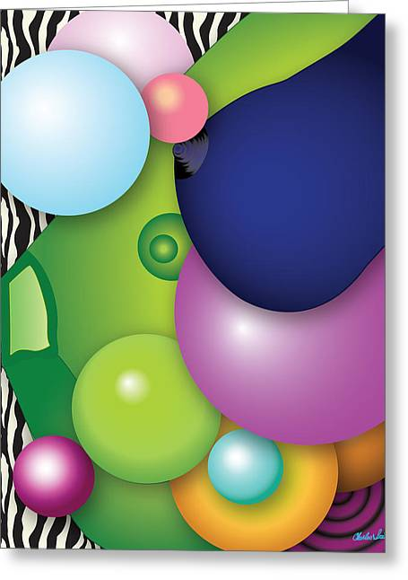 Beat It Digital Art Greeting Cards - EyeBall Greeting Card by Charles Smith