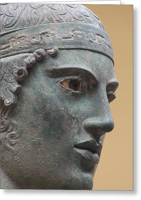 Greek Sculpture Greeting Cards - Eyelashes Greeting Card by Andy Rebennack