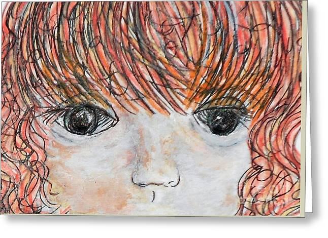 Mom Greeting Cards - Eyes of Innocence Greeting Card by Eloise Schneider