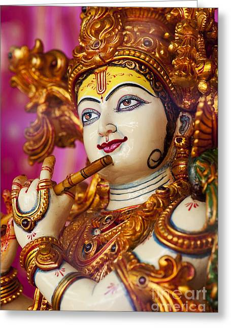 Color Colorful Greeting Cards - Eyes of Krishna Greeting Card by Tim Gainey