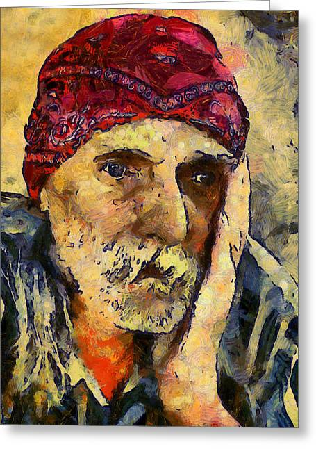 Eyes Of Sadness Greeting Card by Georgiana Romanovna