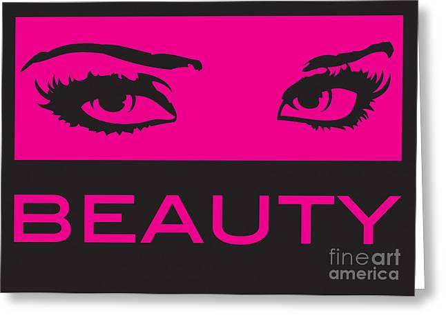 Eyes On Beauty Greeting Card by Suzi Nelson