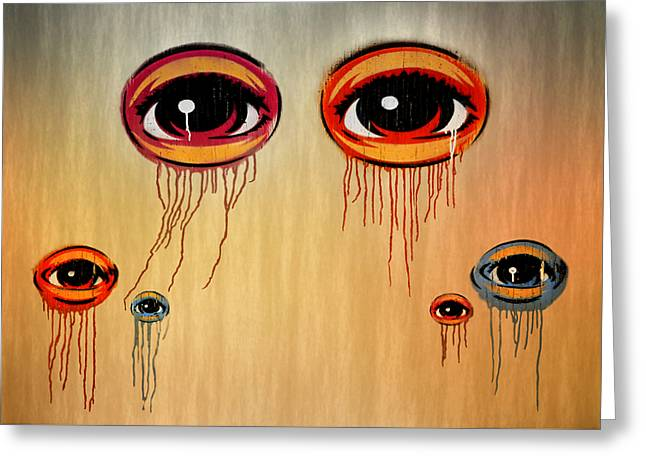 Eyes Greeting Card by Steven  Michael