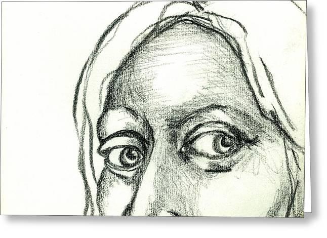 Eys Greeting Cards - Eyes - The Sketchbook Series Greeting Card by Michelle Calkins
