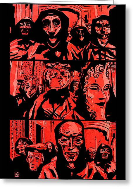 Masked Greeting Cards - Eyes Wide Shut 2 Greeting Card by Giuseppe Cristiano