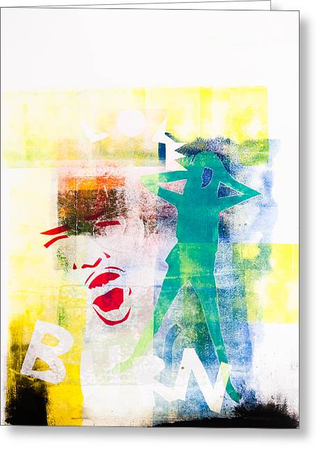 Large Scale Mixed Media Greeting Cards - Eyes Wide Shut Greeting Card by Maria  Lankina