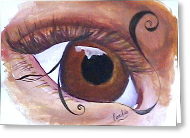 Gouache Mixed Media Greeting Cards - EyeSee 8 Greeting Card by James Bowman
