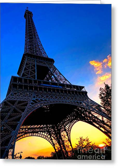 Soaring Tower Greeting Cards - Eyesore No More Greeting Card by Olivier Le Queinec