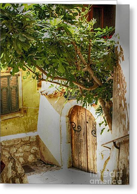 South Of France Greeting Cards - Eze Door Greeting Card by Kate McKenna