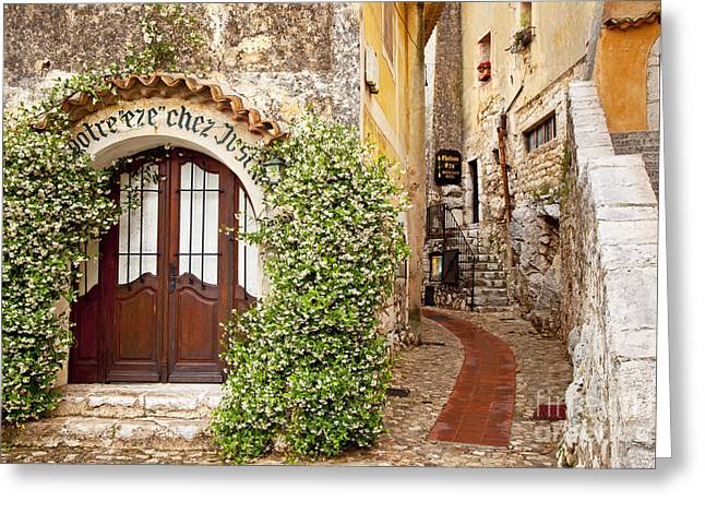 Recently Sold -  - Provence Village Greeting Cards - Eze France Greeting Card by Brian Jannsen