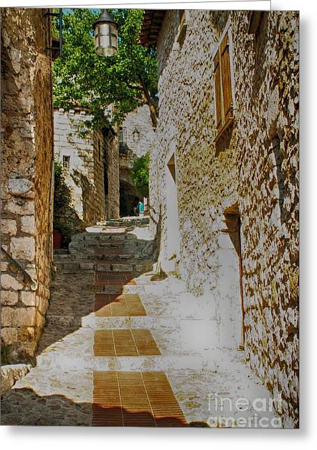 South Of France Greeting Cards - Eze Secret Street Greeting Card by Kate McKenna