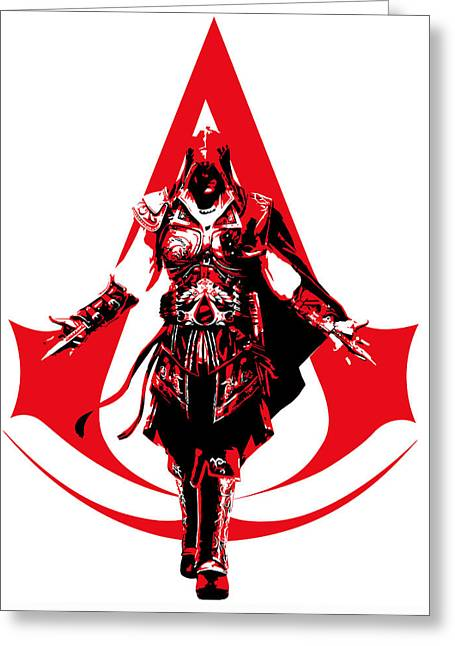 Xbox Greeting Cards - Ezio - Assassins Creed Greeting Card by Danilo Caro