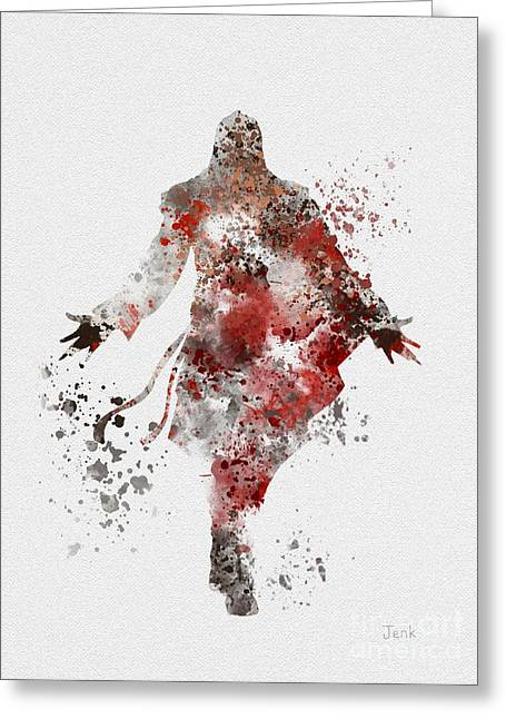 Unity Mixed Media Greeting Cards - Ezio  Greeting Card by Rebecca Jenkins