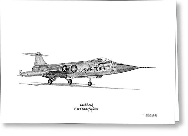 Starfighter Greeting Cards - F-104 Starfighter Greeting Card by Arthur Eggers