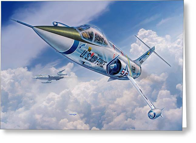 Century Series Greeting Cards - F-104C Starfighter Greeting Card by Stu Shepherd