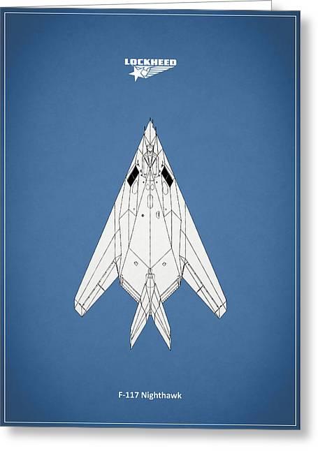 Airplane Greeting Cards - F-117 Nighthawk Greeting Card by Mark Rogan