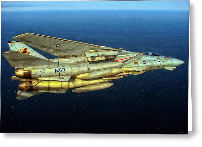 Airpower Greeting Cards - F-14 Tail Hook Extended Ready for Landing Greeting Card by Mountain Dreams