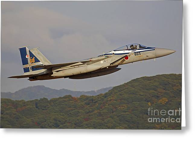 Aggressor Greeting Cards - F-15j Eagle Of The Japan Air Self Greeting Card by Phil Wallick