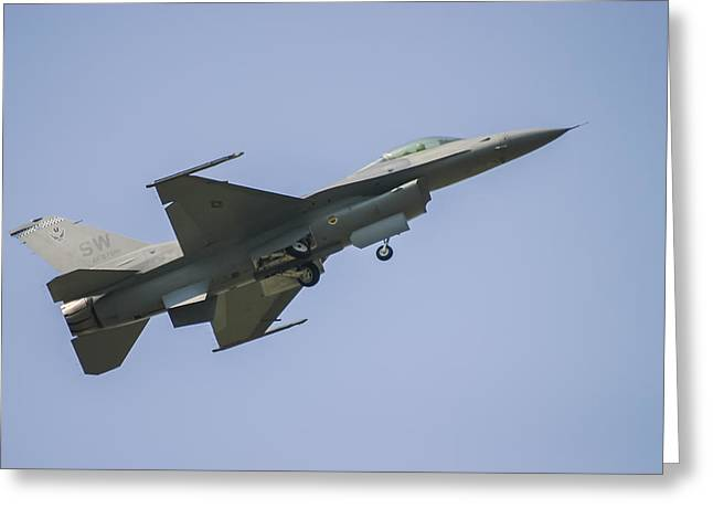Air Shows Greeting Cards - F-16 Falcon Greeting Card by Adam Romanowicz