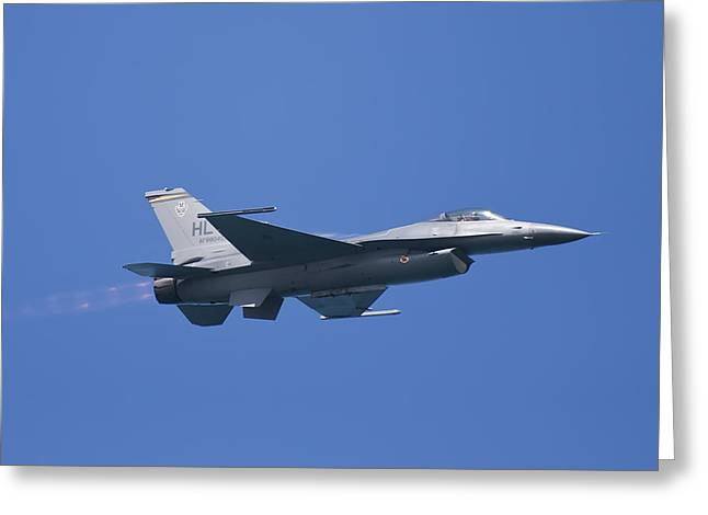 Air Shows Greeting Cards - F-16 Fighting Falcon Greeting Card by Adam Romanowicz