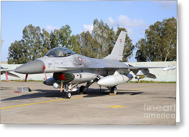 Danish Military Greeting Cards - F-16a Mlu Of The Royal Danish Air Force Greeting Card by Riccardo Niccoli