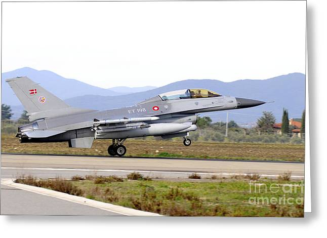 Danish Military Greeting Cards - F-16b Mlu Falcon From The Royal Danish Greeting Card by Riccardo Niccoli