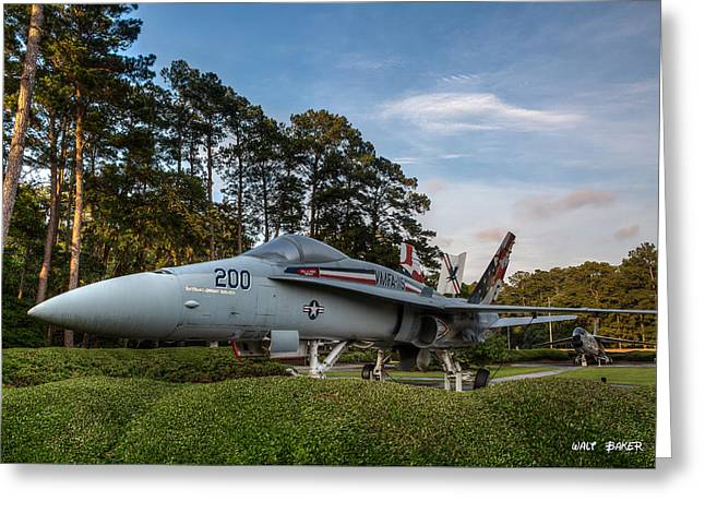F-18 Greeting Cards - F 18 Hornet Greeting Card by Walt  Baker