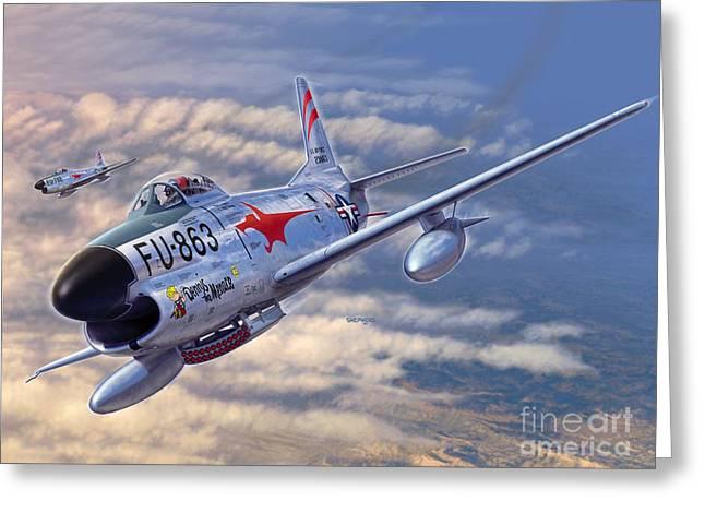 F-86d All Weather Menace Greeting Card by Stu Shepherd