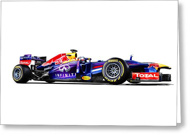 F1 Red Bull Rb9 Greeting Card by Gianfranco Weiss