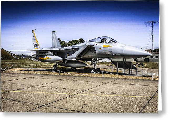 Modern Photographs Greeting Cards - F15 Eagle Greeting Card by Chris Smith