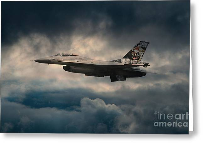 Fighting Tigers Greeting Cards - F16 Tiger Greeting Card by J Biggadike
