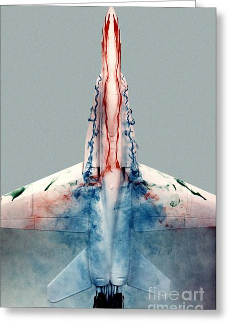 F-18 Greeting Cards - F18 Aerodynamics Greeting Card by Nasa Dfrc
