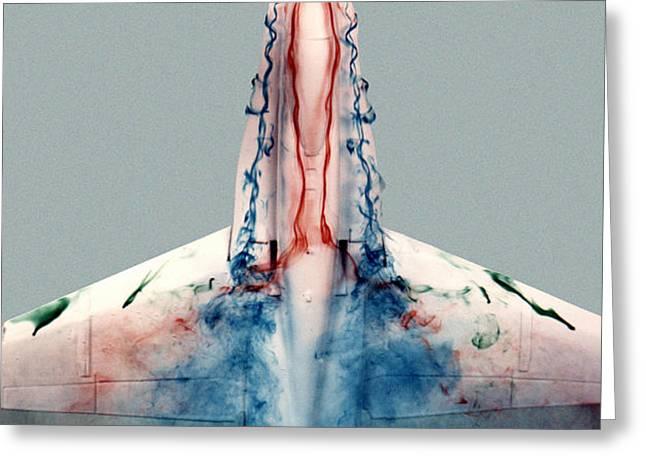 F18 Aerodynamics Greeting Card by NASA DFRC