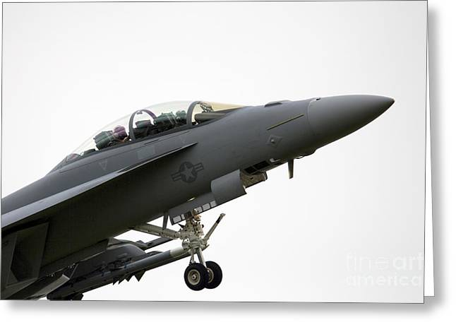 F-18 Greeting Cards - F18 Super Hornet Greeting Card by J Biggadike