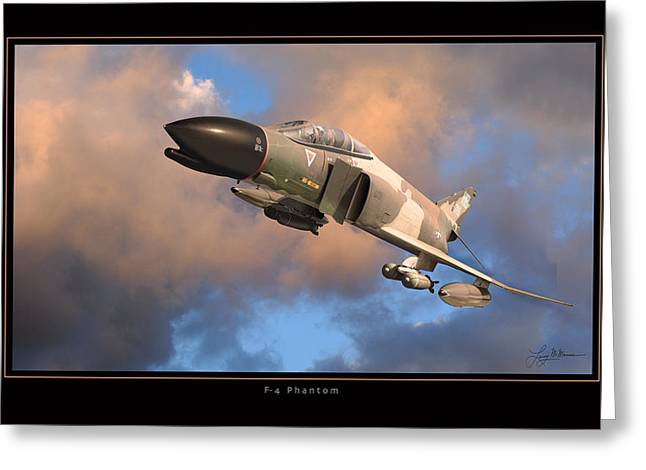 Airplane Art Framed Prints Greeting Cards - F4 Phantom Air Force Greeting Card by Larry McManus