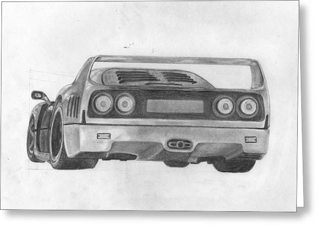 F40 Greeting Card by Avery Wilson