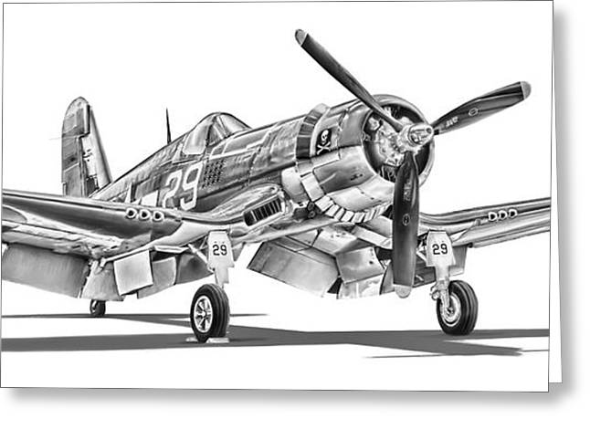 Air War Greeting Cards - F4U Corsair Greeting Card by Dale Jackson