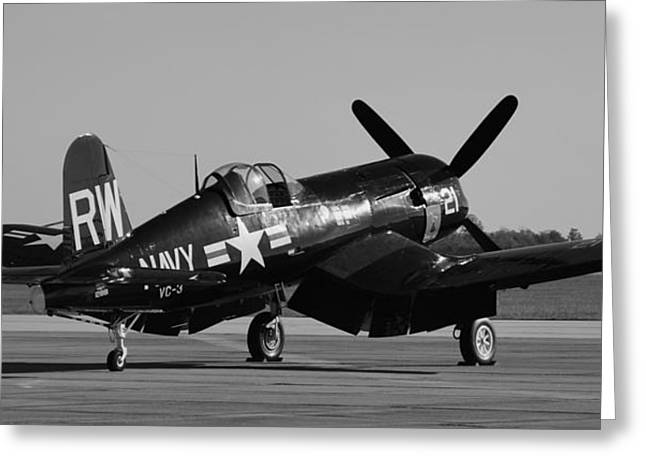 Us Army Air Corp Greeting Cards - F4U Corsair Greeting Card by Richard Booth