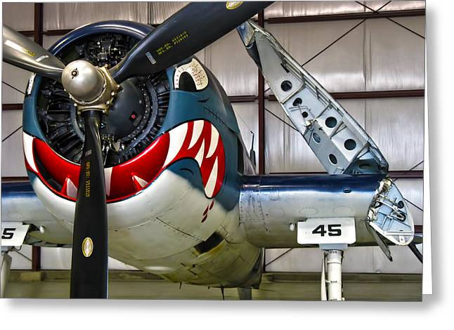 Carrier Greeting Cards - F6F Hellcat Greeting Card by Dale Jackson