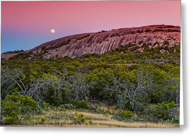 Comanche Greeting Cards - F8 and Be There - Enchanted Rock Texas Hill Country Greeting Card by Silvio Ligutti