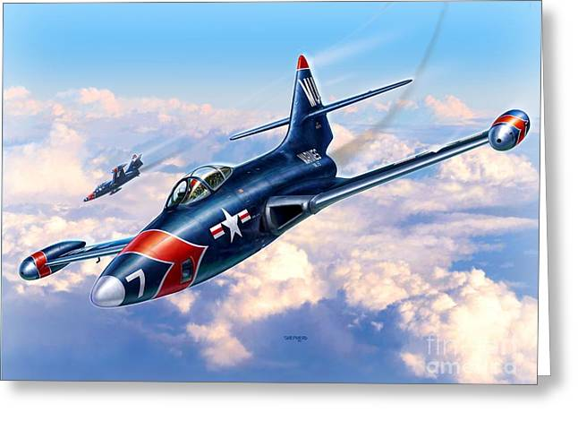 F9f-5p Photo Panthers Greeting Card by Stu Shepherd