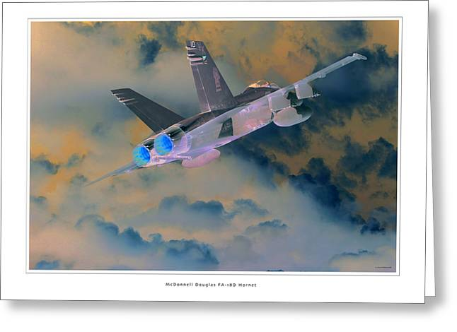 Fa-18d Hornet Greeting Card by Larry McManus