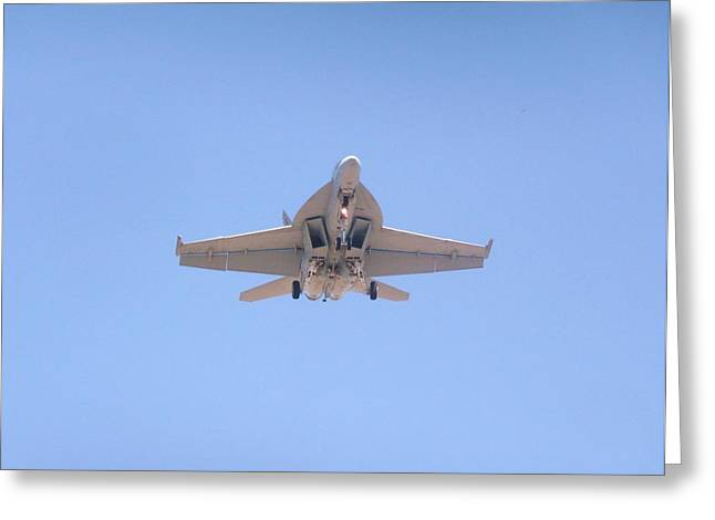 Fa-18ef Super Hornet Greeting Card by Amy Ernst