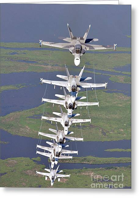 New Orleans Hornets Greeting Cards - FA18 Hornets assigned the River Rattlers Greeting Card by Paul Fearn