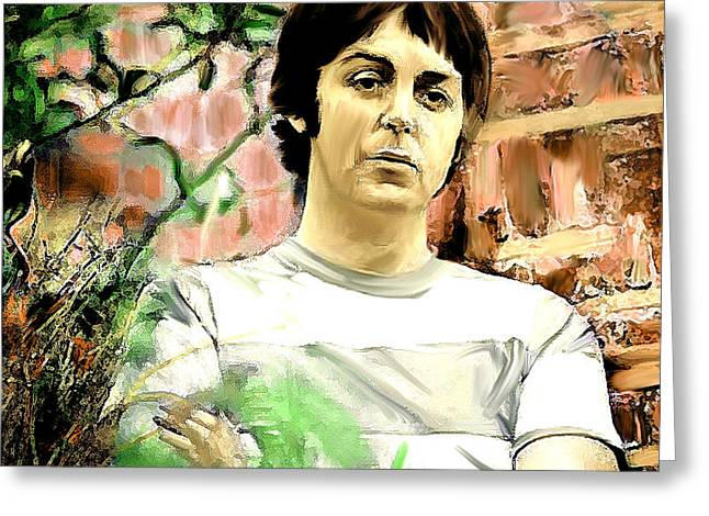 Fab  Paul McCartney  Greeting Card by Iconic Images Art Gallery David Pucciarelli
